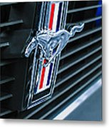 1970 Ford Mustang Boss 302 Fastback Grille Emblem Metal Print