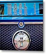 1970 Ford Mustang Gt Mach 1 Emblem Metal Print