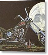 1970 Harley Chopper - Harley Moon Metal Print
