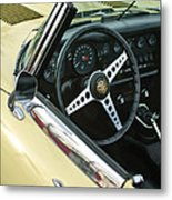 1970 Jaguar Xk Type-e Steering Wheel Metal Print