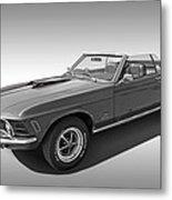 1970 Mach 1 Mustang 351 Cleveland In Black And White Metal Print