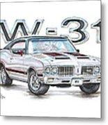 1970 Oldsmobile W-31 Metal Print
