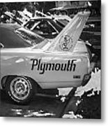 1970 Plymouth Road Runner Hemi Super Bird Bw Metal Print