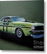 1970's Challenger Race Car Metal Print