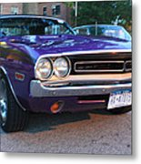 1971 Challenger Front And Side View Metal Print