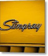 1971 Chevrolet Corvette Stingray Emblem Metal Print