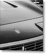 1971 Ferrari 365 Gtc-4 Grille Emblem -1541bw Metal Print