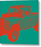 1971 Land Rover Pick Up Truck Modern Art Metal Print
