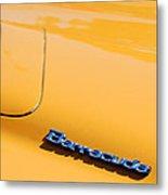 1971 Plymouth Barracuda Convertible Hood Emblem Metal Print