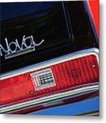 1972 Chevrolet Nova Ss Taillight Emblem -0355c Metal Print