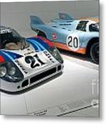 1972 Porsche 917 Lh Coupe And 1970 Porsche 917 Kh Coupe Metal Print