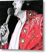 1972 Red Pinwheel Suit Metal Print
