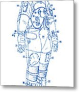 1973 Nasa Astronaut Space Suit Patent Art 2 Metal Print