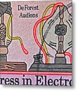 1973 Progress In Electronics Stamp Metal Print