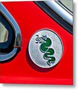 1974 Alfa Romeo Gtv Emblem  Metal Print