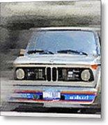 1974 Bmw 2002 Turbo Watercolor Metal Print
