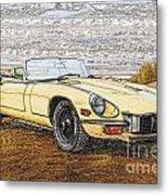 1974 Jaguar Xke Illustration Metal Print