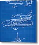1975 Nasa Space Shuttle Patent Art 1 Metal Print