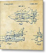 1975 Space Shuttle Patent - Vintage Metal Print