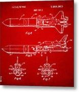 1975 Space Vehicle Patent - Red Metal Print
