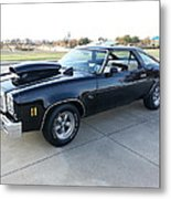 1976 Chevy Malibu Modified Muscle Car Metal Print