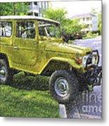 1976 Toyota Landcruiser Metal Print
