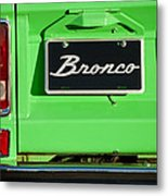 1977 Ford Bronco Taillight Metal Print