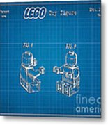 1979 Lego Minifigure Toy Patent Art 3 Metal Print