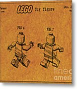1979 Lego Minifigure Toy Patent Art 5 Metal Print