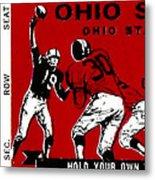 1979 Ohio State Vs Wisconsin Football Ticket Metal Print
