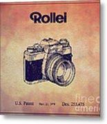 1979 Rollei Camera Patent Art 1 Metal Print