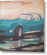 1980 Chevrolet Corvette/reflections Metal Print