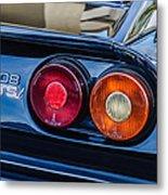 1980 Ferrari 308 Gtsi Taillight Emblem -0027c Metal Print