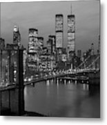 1980s New York City Lower Manhattan Metal Print