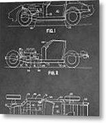 1983 Corvette Patent Metal Print