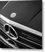 1984 Mercedes 500 Sl Convertible Bw Metal Print