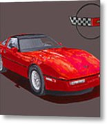 1986 Corvette Metal Print