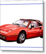 Ferrari 328 G T S 1986 Metal Print