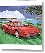 1987 Ferrari Testarosa  Metal Print