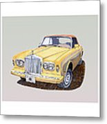 1988 Rolls  Royce's Corniche Convertible  Metal Print