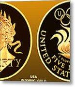 1988 Usa Olympic Gold Metal Print