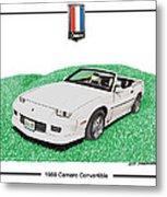 1989 Camaro Convertible Metal Print