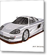 1991 Mercedes Benz C 112 Concept Metal Print