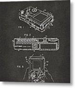 1993 Nintendo Game Boy Patent Artwork - Gray Metal Print
