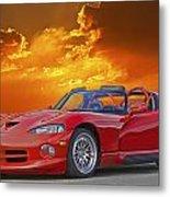 1995 Dodge Viper At Sunset Metal Print