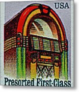 1995 Jukebox Stamp Metal Print
