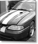 1996 Mustang Cobra In Black And White Metal Print