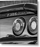1997 Ferrari F 355 Spider Taillight Emblem -221bw Metal Print