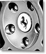 1997 Ferrari F 355 Spider Wheel Emblem -201bw Metal Print