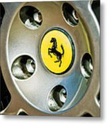 1997 Ferrari F 355 Spider Wheel Emblem -201c Metal Print